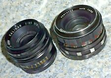 PENTACON 50 mm f1.8 and KALIGAR 35mm f3.5 -M42 mount sharp lenses