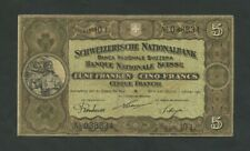 More details for switzerland 5 francs 1921 p11e fine banknotes