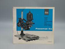 """Original 1964 """"FOCOMAT IIc ENGLARGER"""" Leica/Leitz Brochure"""