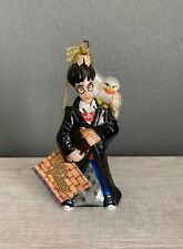 Rare Polonaise By Komozja Harry Potter And Hedwig Handblown Glass Ornament