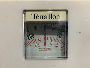Terraillon Bathroom Scale Beige kg & lbs Beige Vintage Made In France