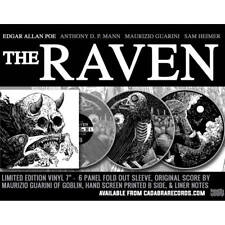 Edgar Allan Poe - The Raven 7 Inch Clear Printed Vinyl Cadabra Records PreOrder