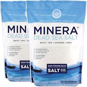 NEW Minera Fine Grain Pure Dead Sea Salt 10 lb 2 Pack  Each of 5 lb Bag