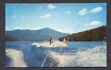 C1960's View of Water Skiing on Lake Placid, Adirondacks, USA.