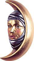 Skulptur Maske Maurische Der Mond CM 25 Geschnitzt IN Holz Der IN Gröden