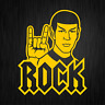 Mr Spock Rock Hand Heavy Metal Star Satire Trek Auto Gelb Vinyl Decal Aufkleber