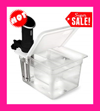 Sous Vide Container 12 Quart EVC-12 with Collapsible Hinge Lid Kitchen Appliance