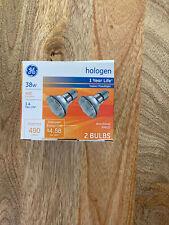 GE Halogen Indor Floodlight 38W Pack Of 2 Bulbs BNWT