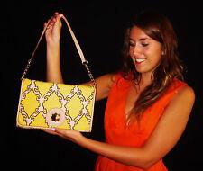 Kate Spade convertible clutch shoulder bag geometric Kari canvas leather sample