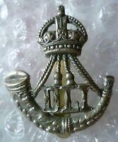 VINTAGE DLI Badge Durham Light Infantry Regiment Cap Badge KC WM Slider ORIGINAL