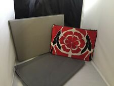 New with tags!  Alexander McQueen  Flame Red Floral Matisse Print Zip Pouch