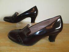 Hotter Follie Comfort Concept Deep Burgundy Patent Leather Shoes UK Size 5.5