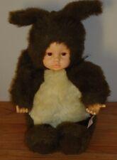 "Anne Geddes SQUIRREL Girl Doll plush 1998 brown & tan 16"""