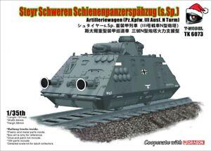 T-Model 1/35 TK6073 Steyr Schweren Schienenpanzerspähzug (s.Sp.)
