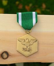 Green Ribbon Metal Eagle Logo For Military Merit United States USA America Pin