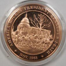 Bronze Proof Medal America Mourns President Kennedy's Death November 1963