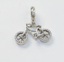 New Authentic Pandora Dangle Brilliant Bicycle  797858CZ With Tag & Suede Pouch
