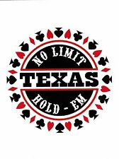"+PC-Postcard-""Texas...No Limit Hold 'Em Poker/ /Picture on Postcard/ (B334)"