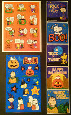 Lot of Halloween Stickers ~PEANUTS ~Charlie Brown~Linus~Lucy~Sally~Snoopy~Ghosts
