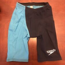 Speedo LZR Racer Elite 2 Men's Jammer Size 27 Fastskin Tech Suit Blue Swim