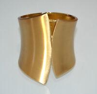 PULSERA rigida mujer oro satinado sexy brazalete esclava ceremonia armband A21