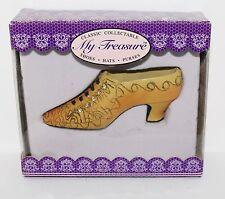 "My Treasure Classic Victorian Yellow Resin Pump High Heel Shoe 4"" L Miniature"