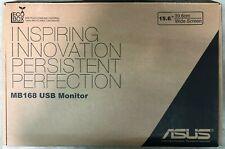 "ASUS MB168B 15.6"" HD Portable LED Backlit TN USB Powered Monitor 1366X768 MB168"