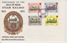 Unaddressed Isle of Man Cover FDC 1973 Steam Railway Company Centenary 10% off 5