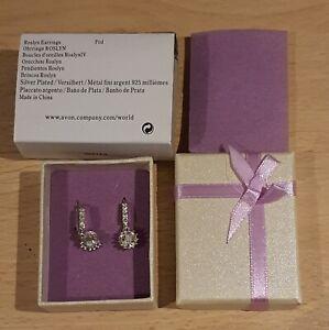 Avon Sliver Plated Roslyn Earrings BRAND NEW