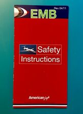 AMERICAN AIRLINES SAFETY CARD--EMB