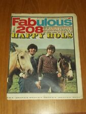 FABULOUS 208 MUSIC MAGAZINE 26TH AUGUST 1967 RYAN TWINS SCOTT MCKENZIE