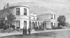 DUBLIN. Chief secretary house, Phoenix Park, antique print, 1881