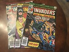 Lot of 3 Marvel The Invaders #9 10 11 comic books bronze age