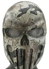Army of Two Punisher Skull Desert Camo Custom Fiberglass Paintball Airsoft Mask