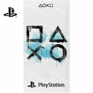 Official Sony Playstation Inkwash Beach Towel 100% Cotton 140 x 70 cm