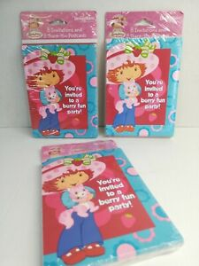 Strawberry Shortcake Invitations & 8 Thank You Postcards American Greetings 3