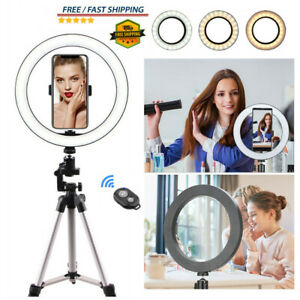 10inch LED Ring Light With Stand For Phone Selfie Makeup Photography Video UK