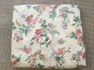Vtg Laura Ashley Queen Fitted Sheet Juliet Floral Juliette NWOT Crisp Rose
