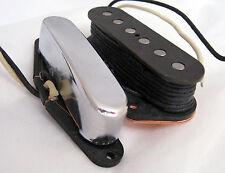 Bloodstone handwound nocaster VINTAGE polepieces 3 telecaster TELE Pickup Set