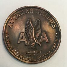 American Airlines 1st Jet Service Boeing 707 Coin Medal Aircraft Aviation Plane