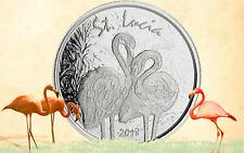 2018 Eastern Caribbean 8 Series St. Lucia Flamingo 1 oz Silver Capsuled BU Coin
