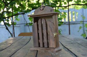 Key holder Wooden key cabinet Handmade key holder Locker Key house Wooden box