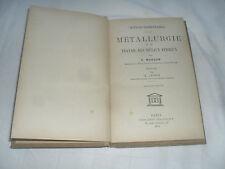metallurgie et le  travail des metaux ferreux , e marcon , delagrave , 1933