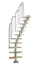 DOLLE Raumspartreppe Mittelholmtreppe einfache Montage in Buche 222-276 cm