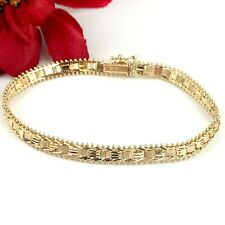 791 Herringbone chain bracelet with ruby S