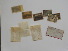 WWII Letter 1945 Czechoslovakia Wounded Germany Currency Paper Money VTG War WW2