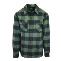 Dickies Men's Green & Black Box Plaid Sacramento L/S Flannel Shirt (S05)