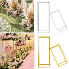 Wedding Metal Geometric Flower Rack Art Column Vases Stand Prop Party Detachable