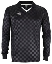 ⚽️ UMBRO THE CHECKER - SOCCER Jersey Long Sleeve - Sz XL BLACK WHITE New $80 NWT