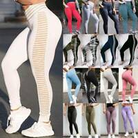 Women's High Waist Yoga Pants With Pockets Push Up Leggings Fitness Gym Workout